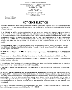 Read the Notice of Election