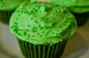 For St. Pat's, how about a green cupcake with UFCW-made Sprite?