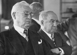 Tobin, left, was the president of the Teamsters for 45 years.