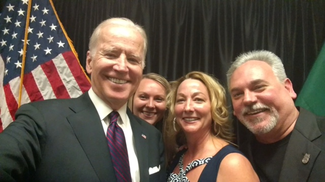 Vice-President Joe Biden with Rick Hicks and family.