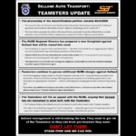 Selland Auto Transport Teamsters Update