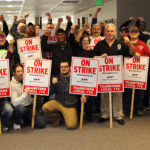 APP/World Fuel Services Teamsters Make Picket Signs in Preparation for Strike